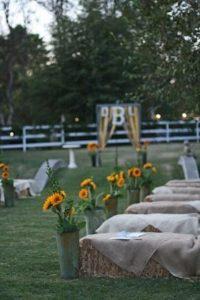 тюки сена на свадьбе