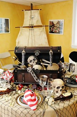 оформление пиратской вечеринки