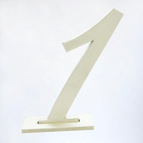 Номера столов белые