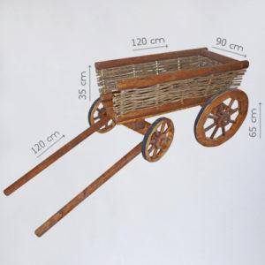 аренда малой деревянной телеги
