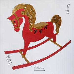 Бутафорская лошадка качалка из дерева в аренду
