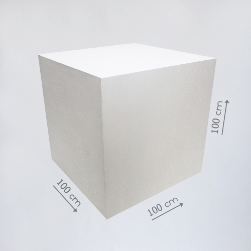 Деревянный куб белый 100 см