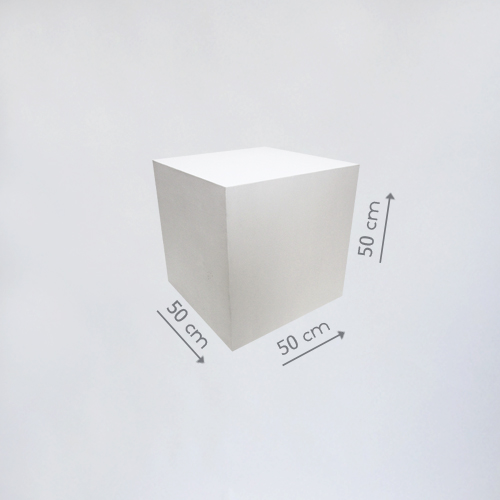 Деревянный куб белый50 см