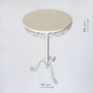 Белый кованый столик