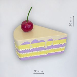 Аренда бутафорского куска торта