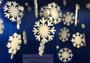 фотозона с снежинками
